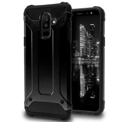 Mobil Skydd till Samsung Galaxy A6+ (2018) | Hårt Hybrid Skal i  Svart