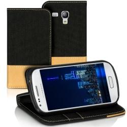 Mobilfordral Jeans för Samsung Galaxy S3 Mini Skal Skydd Telefon Svart