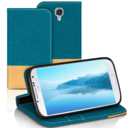 Mobilfordral Jeans för Samsung Galaxy S4 Mini Telefon Magnet Sky Grön