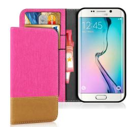 Mobilfordral Jeans för Samsung Galaxy S6 Stötsäker Telefon Konst Rosa