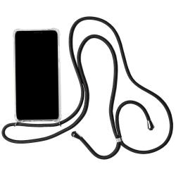 Mobilskal med Halsband för Huawei P20 Pro Silikon Telefon Klar M Svart