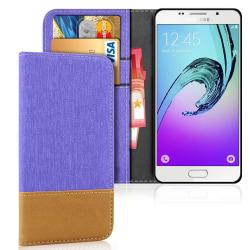 Mobilskal med Kortficka för Samsung Galaxy A3 (2016) TPU Skydd T Lila