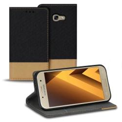 Mobilskal med Kortficka för Samsung Galaxy A3 (2017) Korthållare Svart