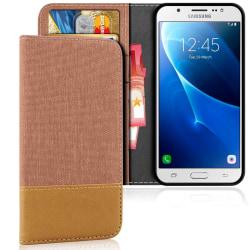 Mobilskal med Kortficka för Samsung Galaxy J5 (2016) TPU Mobilsk Brun