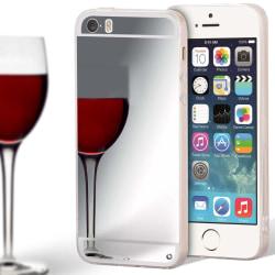 Mobilskal Spegel för Apple iPhone 5 / 5s / SE Mobilskydd Mirror  Silver