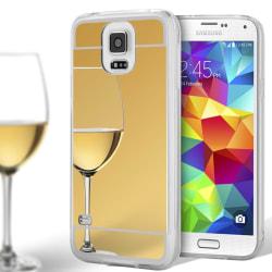 Mobilskal Spegel för Samsung Galaxy S5 Telefon Glänsande Stötsäk Guld