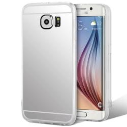 Mobilskal Spegel för Samsung Galaxy S6 Stötsäker Mobilskydd Tele Silver