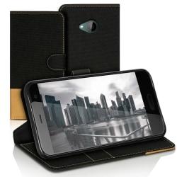 Plånboks Fodral Skal för HTC U11 Life Mobilskydd Jeans Mobil TPU Svart