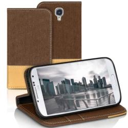 Plånboks Fodral Skal för Samsung Galaxy S4 Mini Korthållare Mobi Brun
