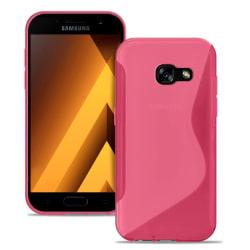 S-Line fodral för Samsung Galaxy A5 (2017) Ultratunna Vanliga fä Rosa