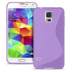 S-Line fodral för Samsung Galaxy S5 Mini Silikon Mönstrad Vanlig Lila