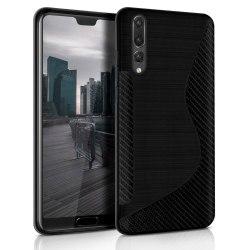 S-Line Slim Cover för Huawei P20 Plus Vanliga färger Ljus TPU Ul Svart