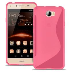 S-Line Slim Cover för Huawei Y5II Mönstrad Ultratunna Gummi Vanl Rosa