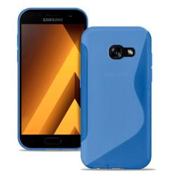 S-Line Slim Cover för Samsung Galaxy A3 (2017) Ultratunna Mönstr Blå