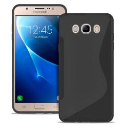 S-Line Slim Cover för Samsung galaxy j7 2016 Vanliga färger Ultr Svart