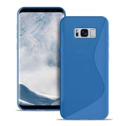 S-Line Slim Cover för Samsung Galaxy S8 Ljus Ultratunna Gummi Va Blå