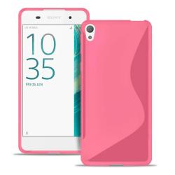 S-Line Slim Cover för Sony Xperia XA1 Ultra Ultratunna Mönstrad  Rosa