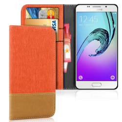Samsung Galaxy A3 (2016) Korthållare TPU Full Cover Mobilskal St Orange