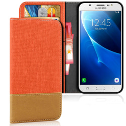 Samsung Galaxy J5 (2016) Telefon Korthållare Magnet Mobilskal Sk Orange