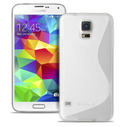 Samsung Galaxy S5 Mini Ljus Stötfångare stötdämpande Vanliga fär Vit