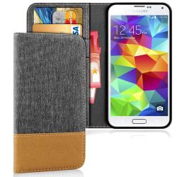 Samsung Galaxy S5 Mini Mobil Telefon Full Cover TPU Stötsäker Sk Mörkgrå