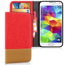 Samsung Galaxy S5 Skal Telefon Full Cover TPU Stötsäker Magnet S Röd