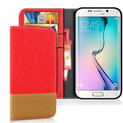 Samsung Galaxy S6 Mobilskydd Telefon Magnet Mobilskal Stötsäker  Röd