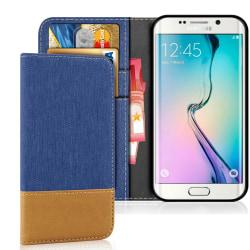 Samsung Galaxy S6 TPU Mobilskydd Mobilskal Jeans Skal Denim Stöt Blå