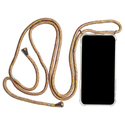 Samsung Galaxy S8 Skal Textil Kedja Stötsäker TPU Telefon Mobils multifärg