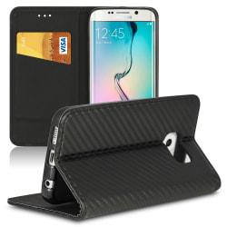 Skal med kortfack för Huawei Y5II Plånbok Magnetlås Konstläder K Svart