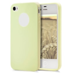 Skal till Apple iPhone 4 / 4s Champagne (Gul) TPU Skydd Fodral Champagne