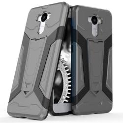 Skal till Huawei Y7 Prime  - Grå Kickstand Armor Skydd Fodral Hå grå