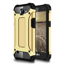 Skal till LG K4 Armor Guld Skydd Fodral Hårt Guld