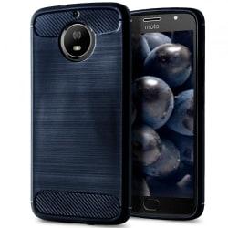 Skal till Motorola Moto G5s Plus Blå Kolfiber Armor Fodral Skydd Blå