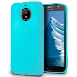 Skal till Motorola Moto G5s Plus Cyan matt TPU Skydd Fodral Turkos
