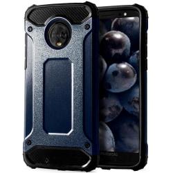 Skal till Motorola Moto G6 Plus Blå Armor Skydd Fodral Hårt Blå