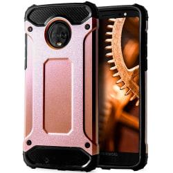 Skal till Motorola Moto G6 Plus Rosa Guld Armor Skydd Fodral Hår Rosa guld