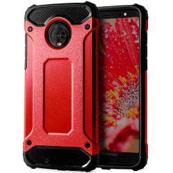 Skal till Motorola Moto G6 Röd Armor Skydd Fodral Hårt Röd