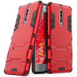 Skal till Nokia 8 / 9 Space Armor Röd Hård Plast Skydd Fodral