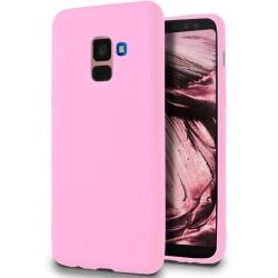 Skal till Samsung Galaxy A8 / A5 (2018) Rosa matt TPU Skydd Fodr Rosa
