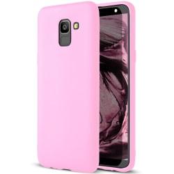 Skal till Samsung Galaxy J6 (2018) Rosa matt TPU Skydd Fodral Rosa