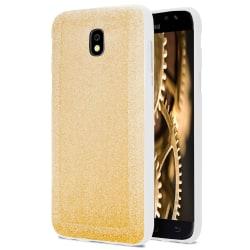 Skal till Samsung Galaxy J7 (2017) Guld Glitter Skydd Tunn Silik Guld