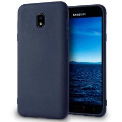 Skal till Samsung Galaxy J7 (2018) Blå matt TPU Skydd Fodral Blå