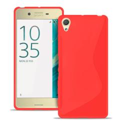 Sony Xperia X Ljus Vanliga färger Gummi Stötfångare stötdämpande Röd