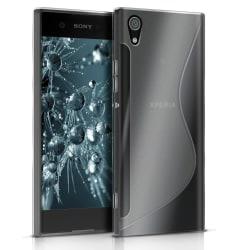 Sony Xperia XA1 Mönstrad Ljus Vanliga färger Stötfångare stötdäm Vit