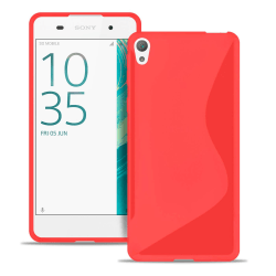 Sony Xperia XA1 Ultratunna Stötfångare stötdämpande Vanliga färg Röd