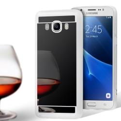 Spegel Skal för Samsung Galaxy J7 (2016) TPU Skydd Glänsande Stö Svart