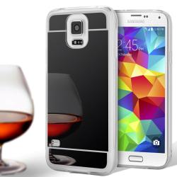 Spegel Skal för Samsung Galaxy S5 Stötsäker Tunnt Mobil Telefon  Svart