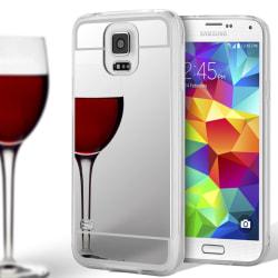 Spegel TPU Skal för Samsung Galaxy S5 Mobil Glänsande Mobilskydd Silver