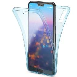 Stötsäkert Skal för Huawei P30 Mobilskydd 360 Graders Skydd Sili Blå
